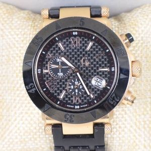 GUESS Collection Black & Gold Swiss Watch #16378